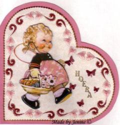Mabel borduur kaartje