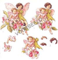 Flower Fairy 3d stappenvel