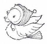 Juniper Winter Flying Bird