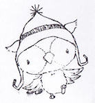 Snowy Winter Owl