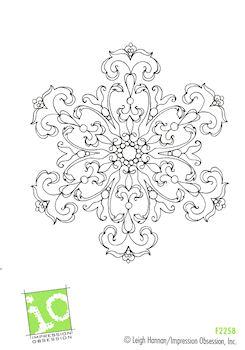 Damask Snowflake
