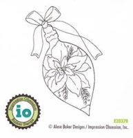 Elegant Poinsettia Ornament