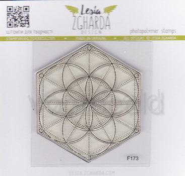Geometric Rosette F173