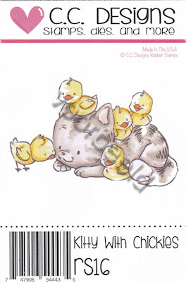 Kitty With Chickies