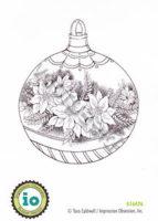 Poinsettia Ornament