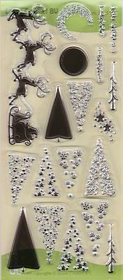 Santa en small Christmas trees