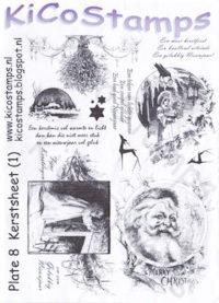 Kiko Stamps - Plate 8 Kerstsheet