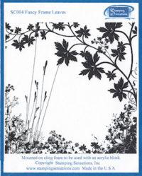 Stamping Sensations - Fancy Frame Leaves