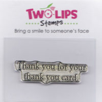 Two-lips - Thank You Card