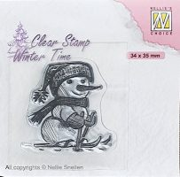 wt - Skiing Snowman