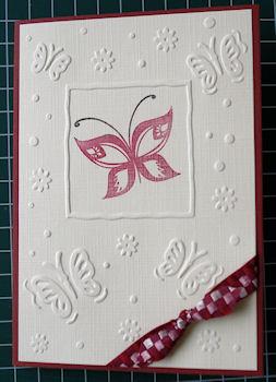 Embos folder Butterfly