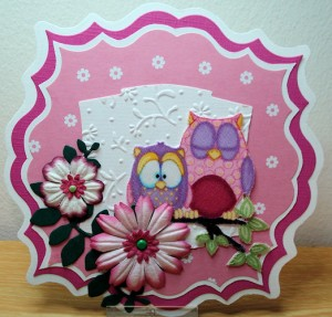 Crea-Nest-Lies XXL no. 5, paper flowers, uilstofje en embosfolder 1856 8023