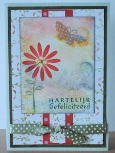 925 - Stempel Pretty Flowers van Inkadinkado, tekst stempel CS0844 van Marianne Design