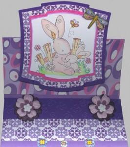 671 - Easelkaart - Stempel Hoppy Spring