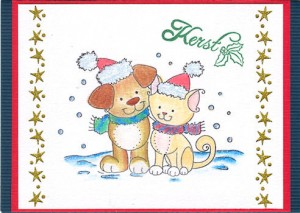 707K - Stempel Wild Rose Studio - Christmas Friends