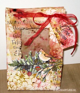 Workshop tasje - Stempel Christmas Cardinal, stencil  Magenta MC01