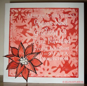 workshop kaart - stempel Doodle Poinsettia 1