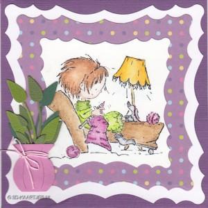 a1213 - Stempel Knitting Daisy, Dies Nest-Lies XXL 16, CL CS 11, en vaasje 4250271