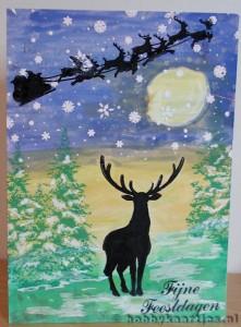 Stempels: Large Deer, Openingssheet en Winter Pines