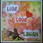 Live love laugh distress ink kaartje
