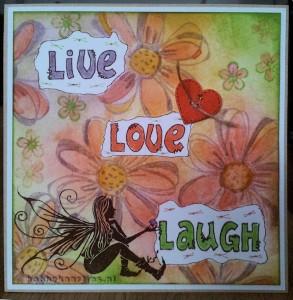 Live love laugh distress ink kaartje