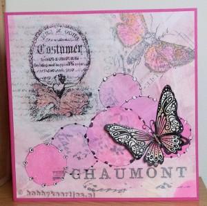 gelli plate en butterflies