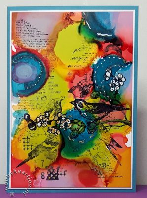 workshop alcohol ink druppel techniek