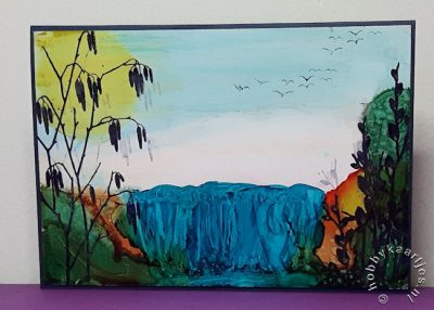 workshop landscape met alcohol ink