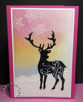 Damask Reindeer van Chocolate Baroque