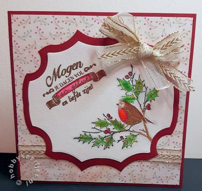 Stempel Fat Robin en Winter Memories 119