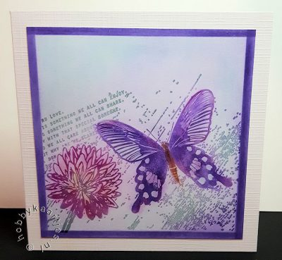 Stempel Butterfly Notes op Panpastel