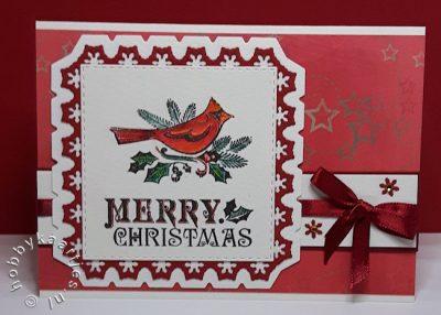 Inkadinkado - Christmas Cardinal