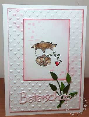 Purple Onion Designs Sweetheart owl with heart