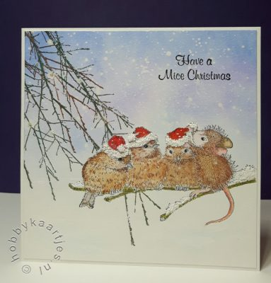 House Mouse - Santa Hat Birds