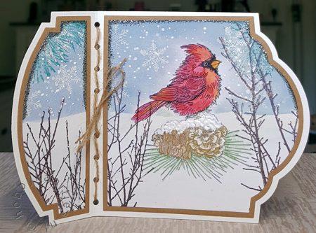 Stampendous - Cardinal Christmas