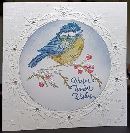 Stampendous - Winter Chickadee
