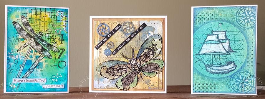 Workshop kaarten, gemaakt bij Bianca en Mariëtte